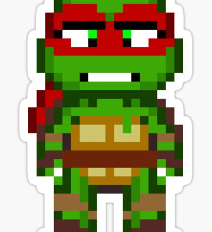 Raph TMNT 2012 Mini Pixel Sticker