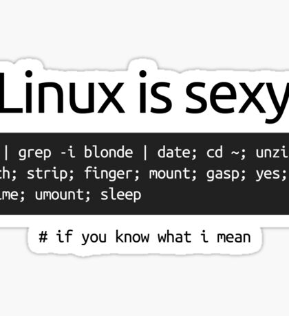 Linux is sexy Sticker