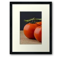 Closeup of cherry tomatoes Framed Print