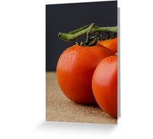 Closeup of cherry tomatoes Greeting Card