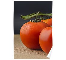 Closeup of cherry tomatoes Poster