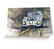 Porsche 917K Gulf Le Mans 24 1970  Greeting Card