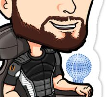 Mass Effect - Jeff Joker Moreau Normandy Pilot with EDI Chibi Sticker Sticker