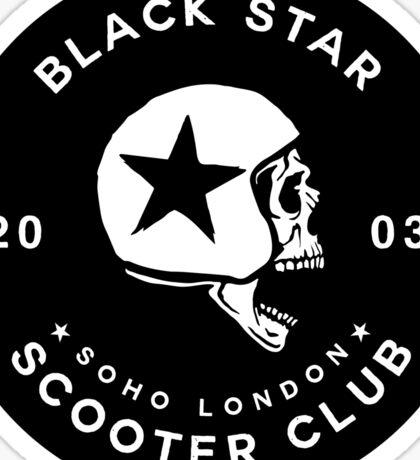 BLACK STAR SCOTER CLUB - [STICKER VERSION] Sticker