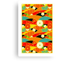 Chiyogami Crimson & Carrot [iPhone / iPod Case and Print] Canvas Print