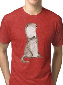 Sitting Otter Tri-blend T-Shirt