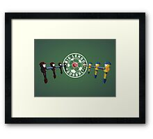Big League Foosball | Community Framed Print