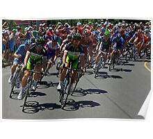 Green Edge in the Peleton, Stage 6, City Circuit, Tour Down Under 2012 Poster