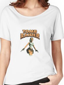 Tomb Raider classic pixel madness Women's Relaxed Fit T-Shirt