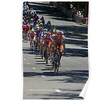 The Peleton coming down Pennington Terrace, Stage 6, City Circuit, Tour Down Under 2012 Poster