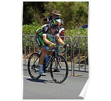 Leigh Howard climbing Montefiore Hill, Stage 6, City Circuit, Tour Down Under 2012 Poster