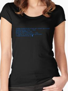 how not to get a girlfriend Women's Fitted Scoop T-Shirt
