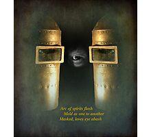 masquerade - haiku ....again Photographic Print