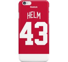 Detroit Red Wings Darren Helm Jersey Back Phone Case iPhone Case/Skin