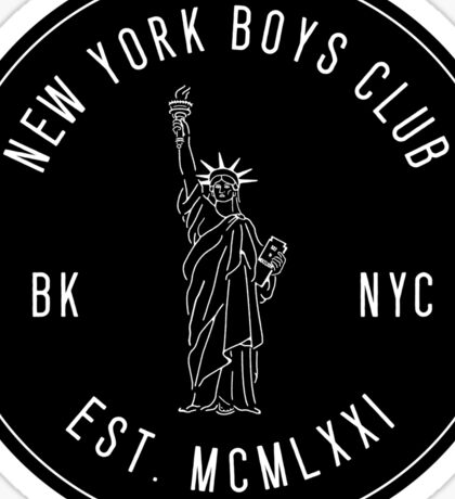New York Boys Club Sticker