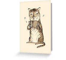 Accordion Tiger Greeting Card