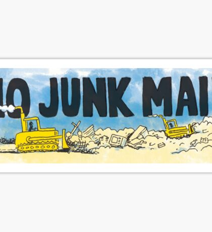 No Junk Mail Landfill  Sticker