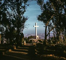 Cross at Mount Macedon 1959 05120022 by Fred Mitchell