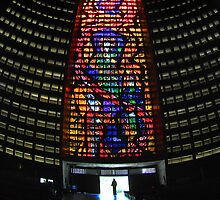 Cathedral Interior with Entrance, Rio de Janeiro, Brazil by Carole-Anne