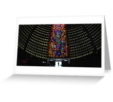 Cathedral Interior with Entrance, Rio de Janeiro, Brazil Greeting Card
