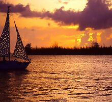 Key West Sunset in Gold by Rosalie Scanlon