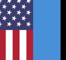 USA & Estonia Sticker