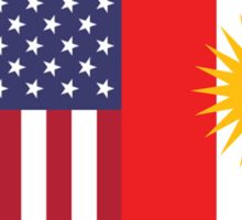 USA & Kurdistan Sticker