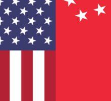 USA & Singapore Sticker