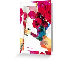 Riff on Roses and a Ukulele  Greeting Card