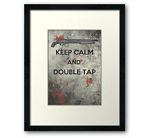 Keep Calm & Double Tap Framed Print