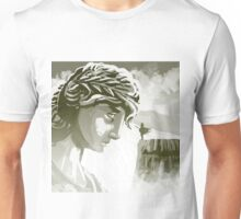 the spartan challenging the greek goddess Athena Unisex T-Shirt