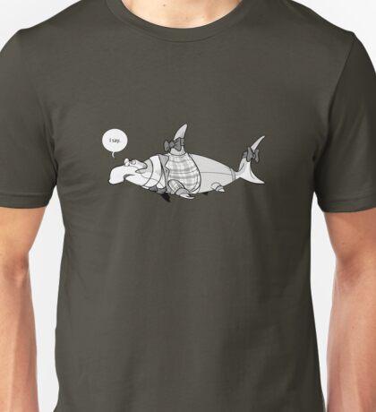 Fancy Gentleman Shark Unisex T-Shirt