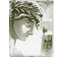 the spartan challenging the greek goddess Athena iPad Case/Skin