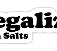 Legalize Bath Salts (Black Text) Sticker