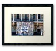 "Alcatraz III ""Indians Welcomed"" Framed Print"
