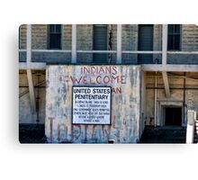 "Alcatraz III ""Indians Welcomed"" Canvas Print"