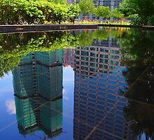 water reflect at KLCC Kuala Lumpur  by MohdFaris