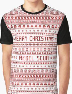 Merry Christmas Rebel Scum Graphic T-Shirt