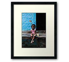 Little Indian Girl Framed Print