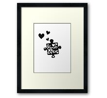 Best Friends Forever Connection Puzzle (right) Framed Print