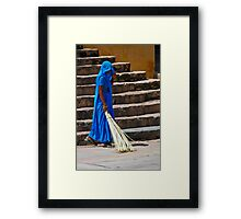 Sweep in Blue Framed Print