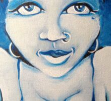 Blue Girl Sticker