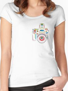 Rainbow Camera Fun Women's Fitted Scoop T-Shirt