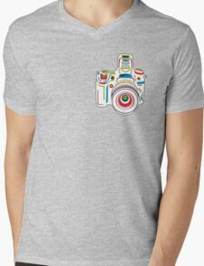 Rainbow Camera Fun Mens V-Neck T-Shirt