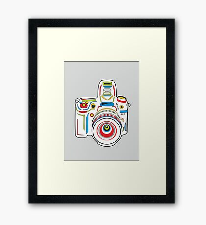 Rainbow Camera Fun Framed Print