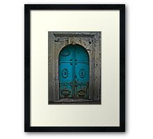 Old Blue Door Framed Print