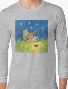 Campfire Cat Long Sleeve T-Shirt