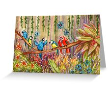 Jungle Birds Greeting Card