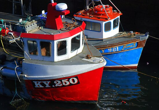Fishing Boats moored at Pittenweem Harbour by The Creative Minds