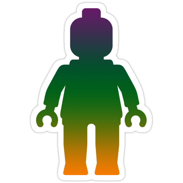 Minifig [Large Rainbow 3] by Customize My Minifig by ChilleeW